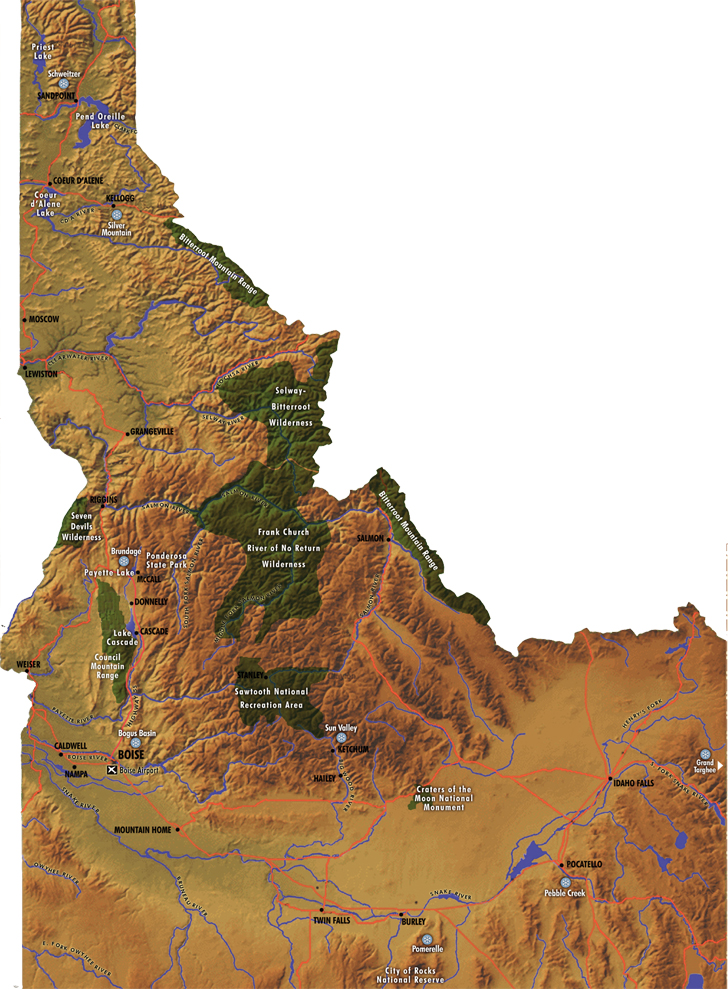 Idaho Adventures By Region